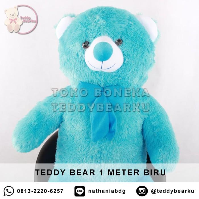 Jual Jual Boneka Teddy Bear Jumbo 1 Meter Warna Biru Khas Bandung ... 6323a795ca