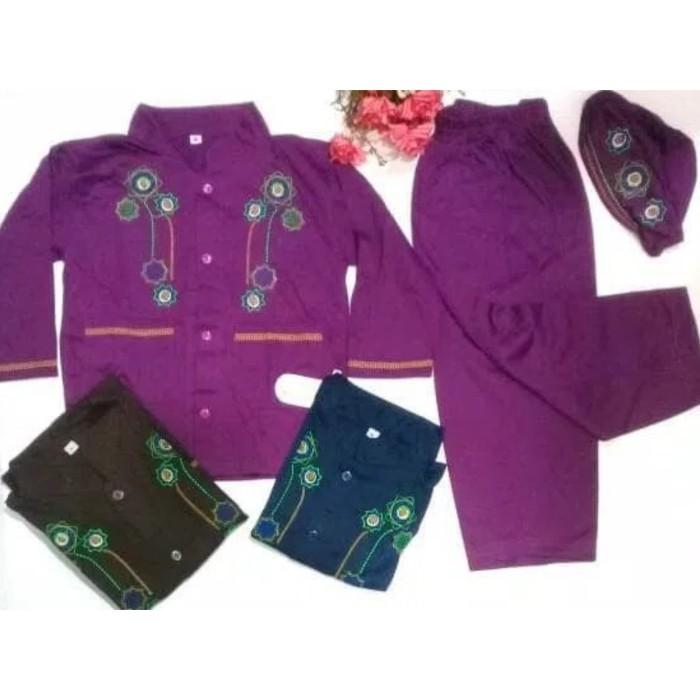 Setelan anak / baju koko set peci / baju muslim anak