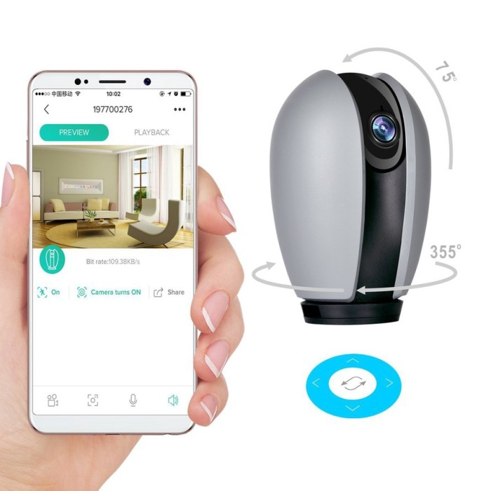 Jual 720P Smart Life Kamera Ip Wifi 1Mp 720P dgn Sensor Gerak 100 Derajat -  Kota Bandung - AL3XA | Tokopedia