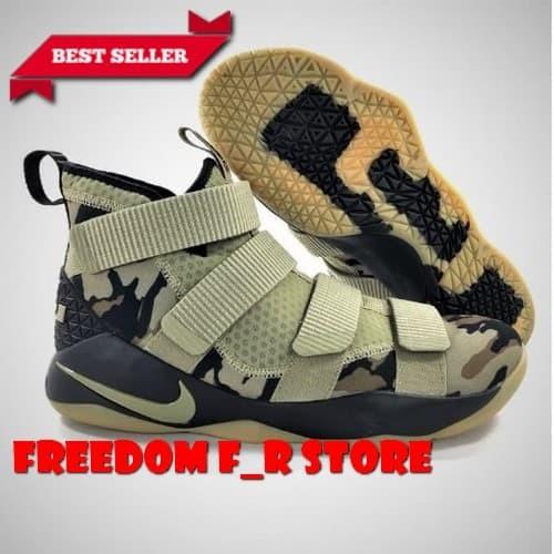 Jual sepatu basket sepatu Nike Lebron James XI 11 Soldier Camo Green ... 4b86553bc8
