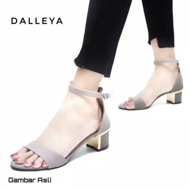 Jual sepatu sandal wanita heel hak tahu T13 PIWONG SUEDE - Hitam 5ba07854bc