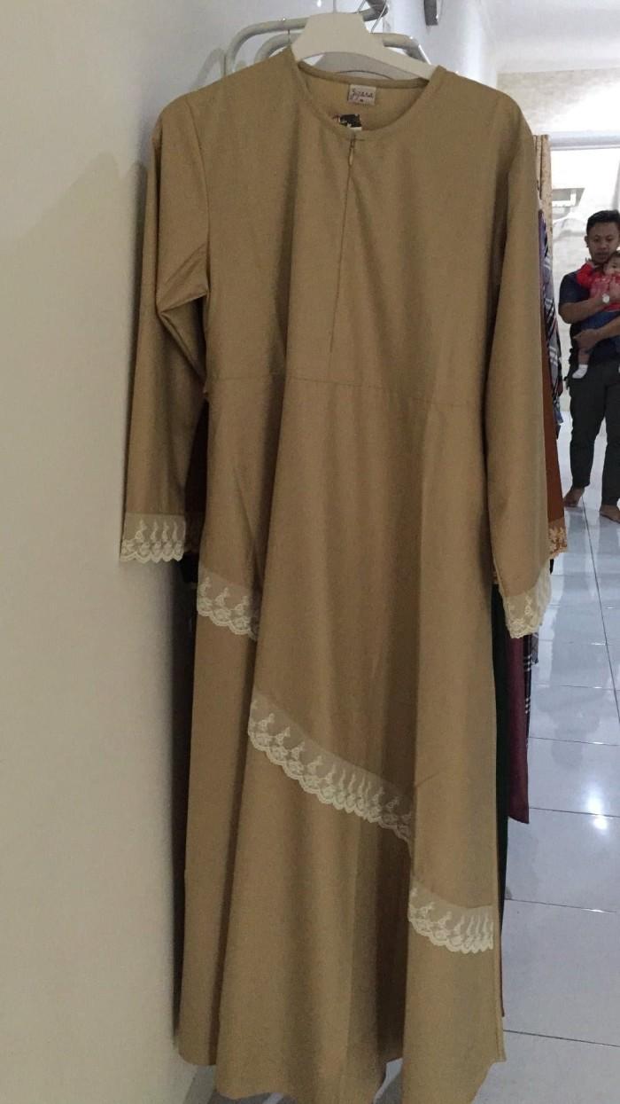 Jual TERBARU Gamis syari renda krem - Kab. Bandung - luna shop8   Tokopedia