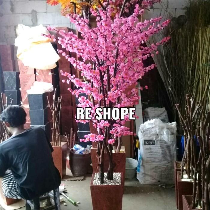 Jual Bunga Hias Plastik Pohon Sakura Pink T 170cm Kab Bogor Re Shope Tokopedia