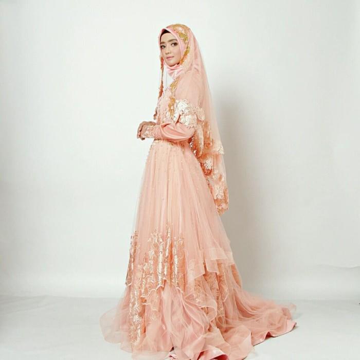 Jual Gaun Dress Baju Pengantin Muslimah Gaya 004 Kota Yogyakarta Bbride Tokopedia