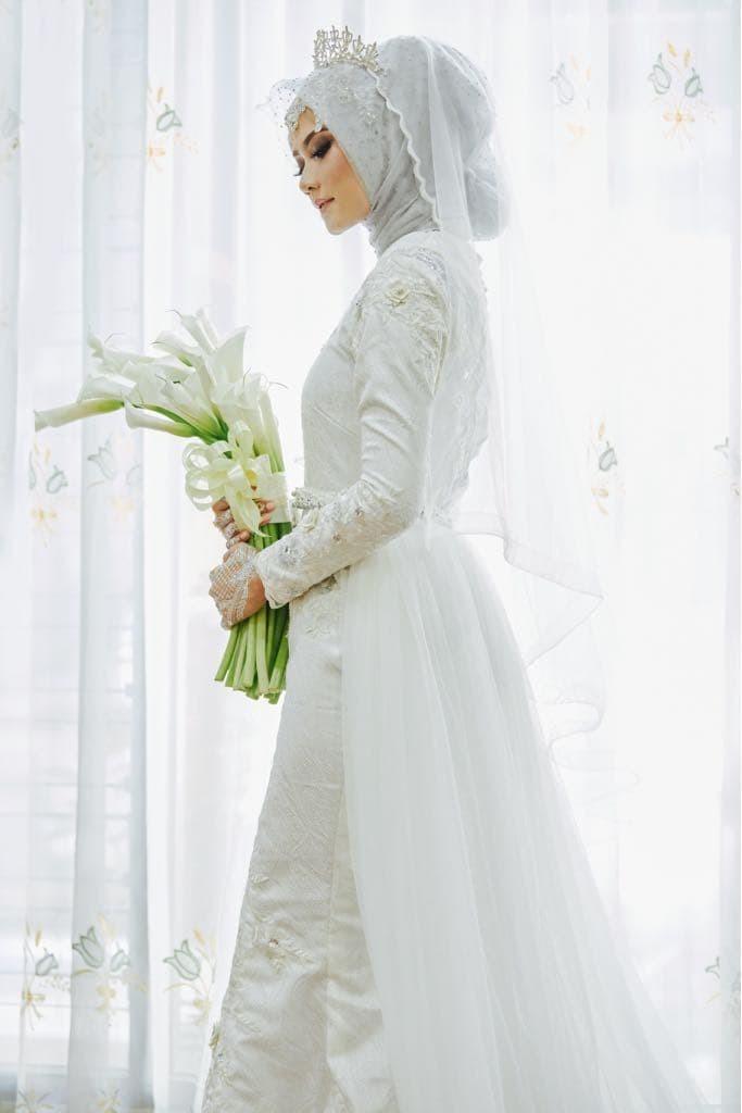 Jual Gaun Dress Baju Pengantin Muslimah Shofawhite 001 Kota Yogyakarta Bbride Tokopedia