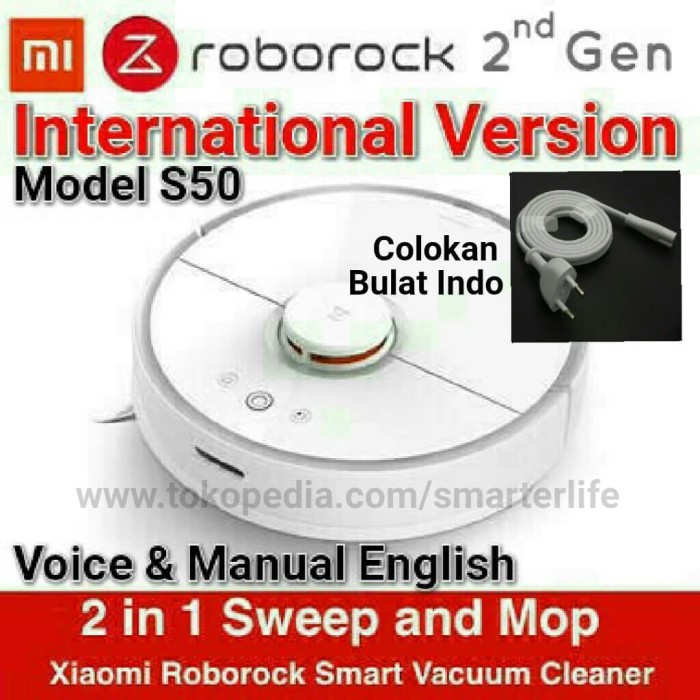 Jual NEW Xiaomi Roborock 2 International Version Smart Robot Vacuum Cleaner  - Putih - DKI Jakarta - Smarter Life | Tokopedia