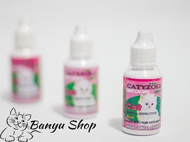 Obat Cacing Tetes Untuk Kucing Kitten & Dewasa Ukuran 30ML CATYZOLE