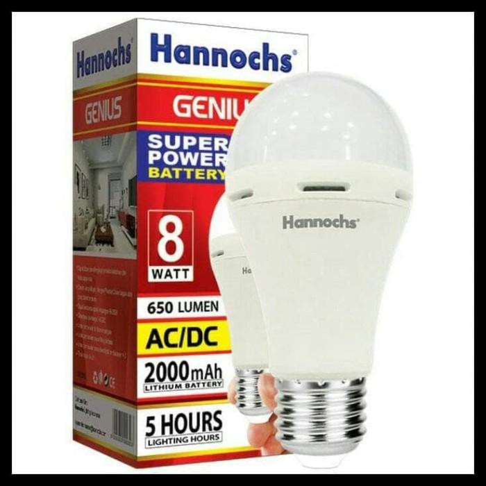 HOT SALE Lampu Led emergency/Magic/Darurat/Cas 8 watt Hannoch Genius