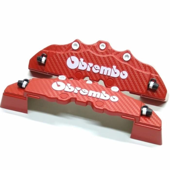Cover Rem Merah Carbon Cover Rem Disc Brake Medium Brembo Karbon