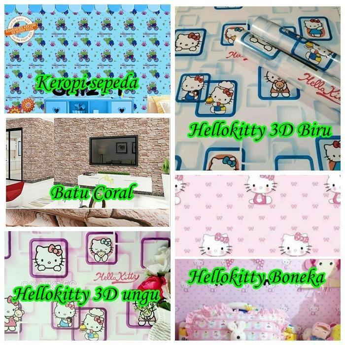 Jual Wallpaper Dinding Kamar Tidur Wallsticker Motif Doraemon