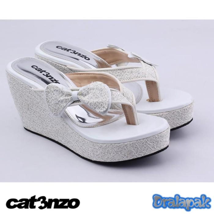 harga Sandal jepit wedges semi kulit sendal cibaduyut catenzo jk521 Tokopedia.com