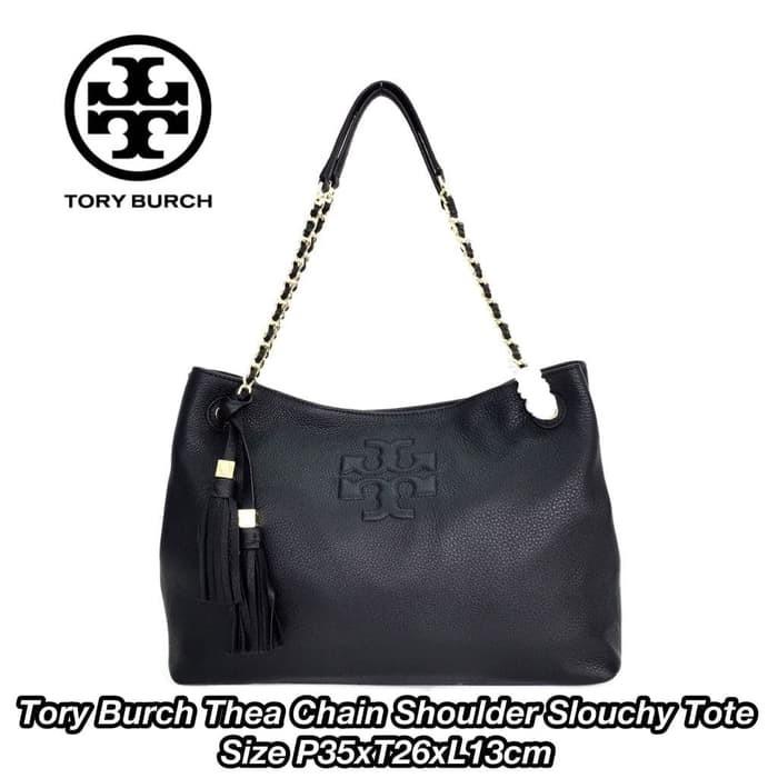 7cb575de22308 Jual Tory Burch Thea Chain Shoulder Slouchy Tote - brand3dstor3 ...