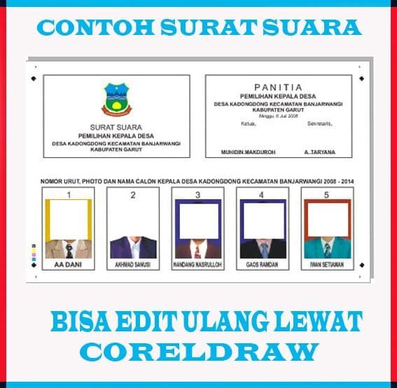 Jual Dvdcd Template Surat Suara Pilkades Pilkada Format Corel Kota Jambi Lapak Suryadi Tokopedia