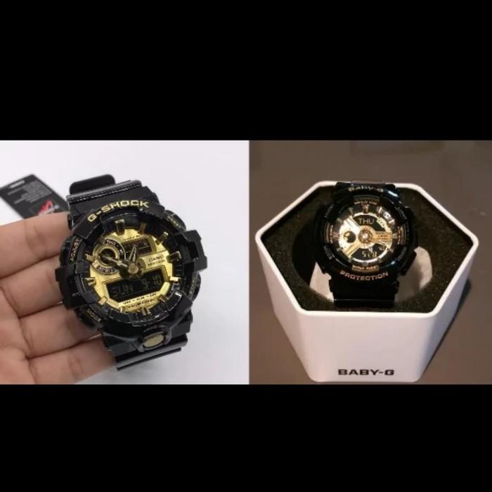 Jual Jam Tangan Couple G-Shock Casio Original GA-710GB-1A   BA-110 ... 466c27b2f1