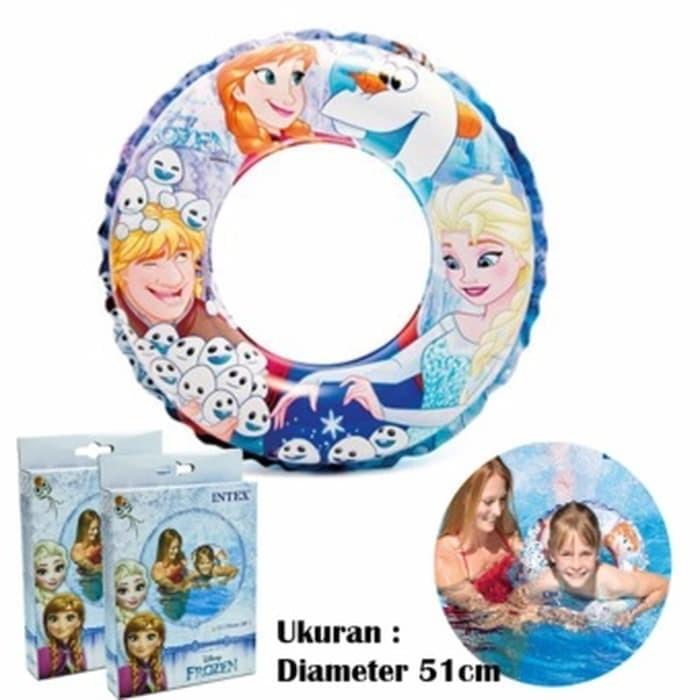 Ban pelampung renang anak frozen swim ring intex 56201original disney