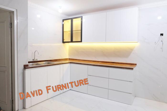 Jual Kitchen Set Minimalis Laquer Cat Semprot Putih Frame Aluminium Dki Jakarta David Furniture Tokopedia