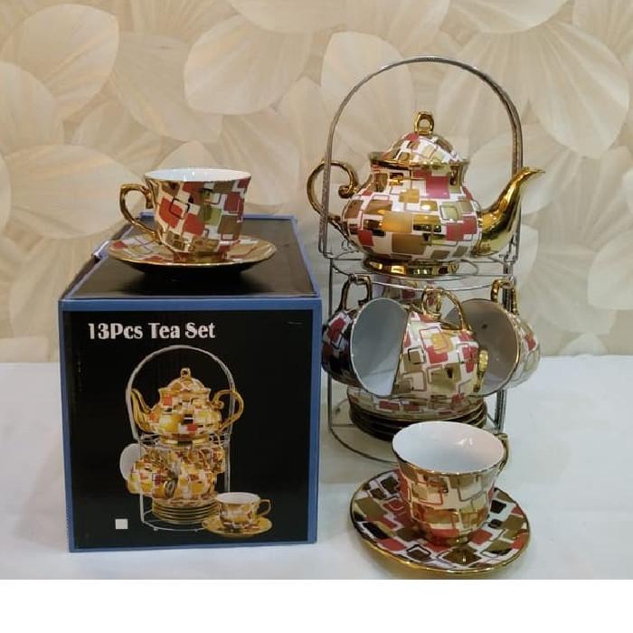 Foto Produk Coffee Set / Tea Set CAPODIMONTE 13 pcs With Stand - Mewah dari TOKO ERWIN TANJUNG