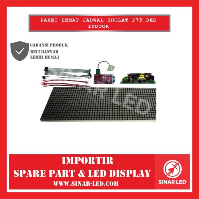 Foto Produk Paket Hemat Jadwal Sholat P75 Red Indoor dari sinar led