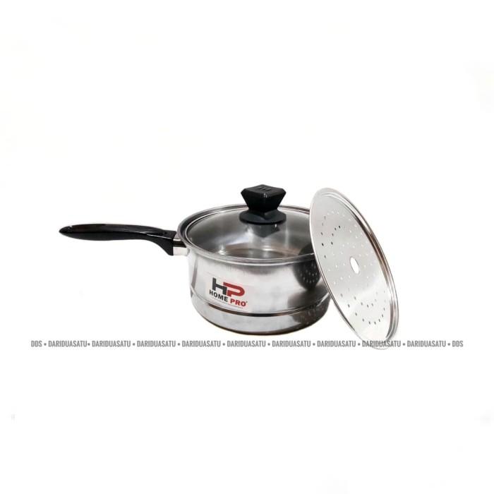Foto Produk Panci Susu Steamer / Panci Kukus Tutup Kaca 20 Cm dari DariDuaSatu