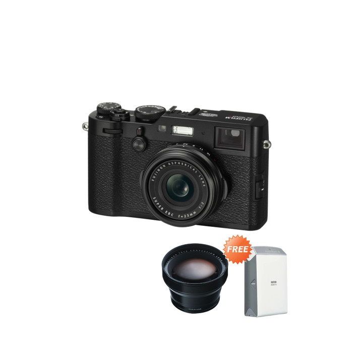 harga Fujifilm x100f + instax share sp2 - black Tokopedia.com