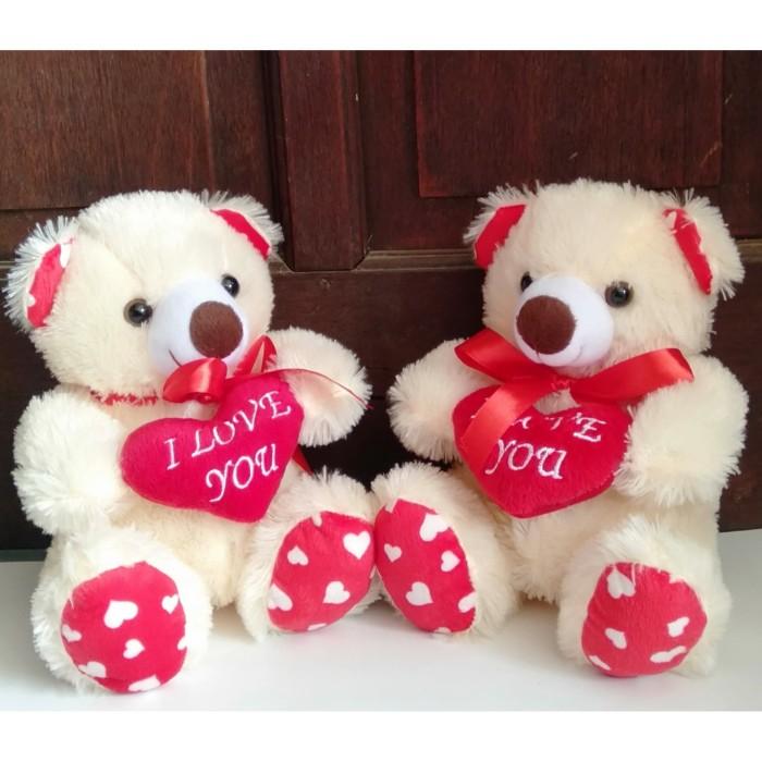 Jual Terlarisss Boneka Teddy Bear Love Boneka Beruang Imut Lucu Kota Bekasi Qianzi Creative Tokopedia
