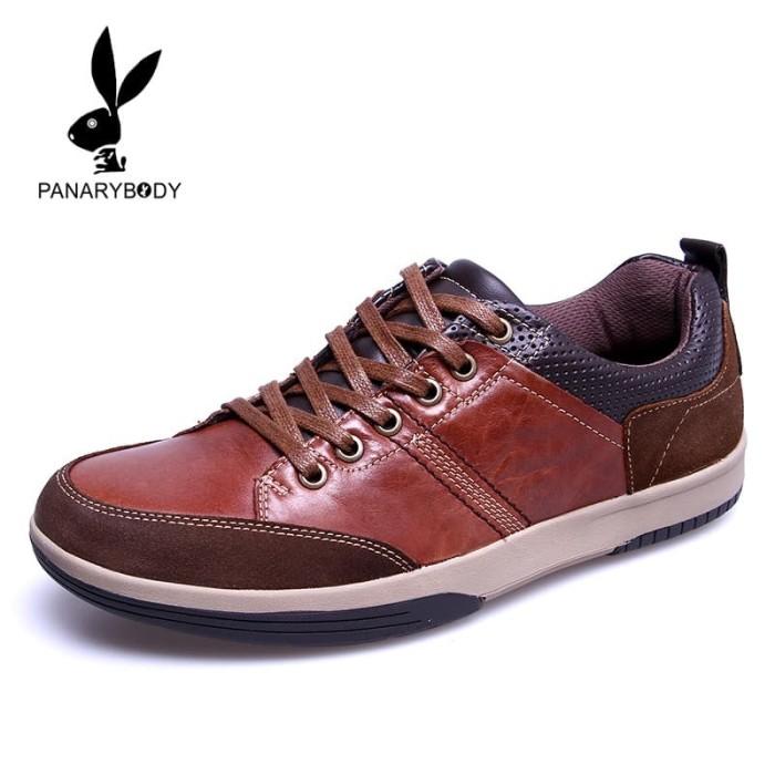sepatu pria kasual keren kulit asli merk PANARYBODY