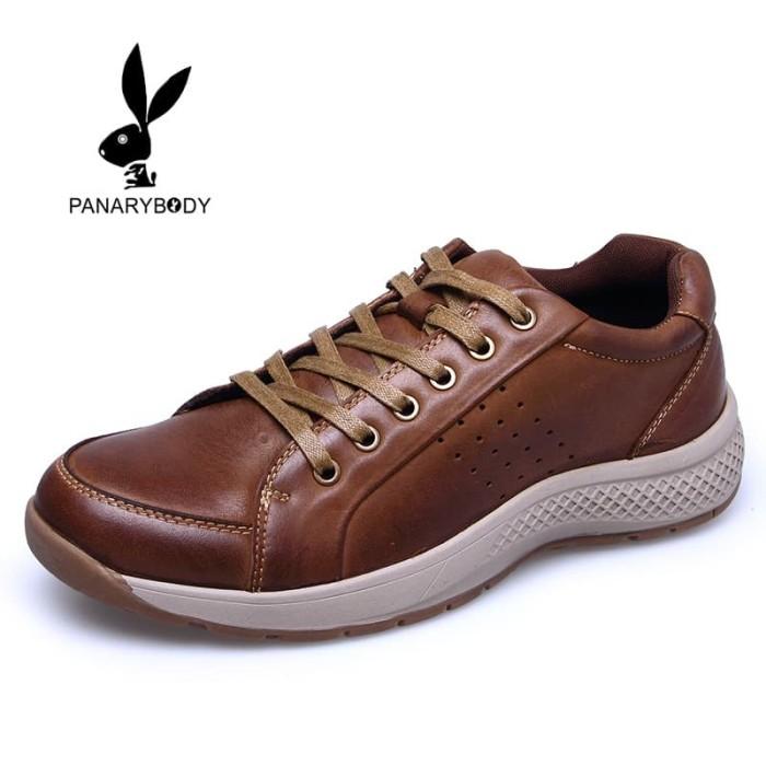 Sepatu kulit Casual Pria keren dan trendy cocok buat jalan-jalan