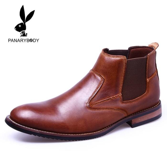 Sepatu kulit Boots Pria Kekinian terbaru dan terlaris