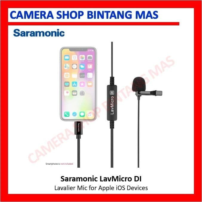Foto Produk Saramonic LavMicro DI Broadcast Lavalier Microphone for Apple iOS dari Camera Shop Bintang Mas