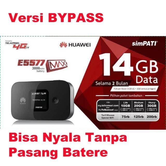 harga Huawei mifi 4g lte e5577 max 3000mah free tsel 14gb versi bypass Tokopedia.com