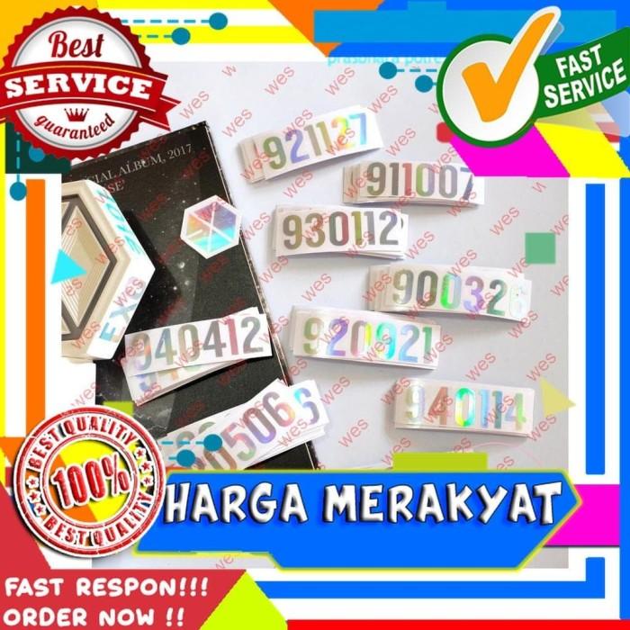 Jual Exo Birthday Date Hologram Sticker 921127 940412 Dll Kpop Hologram Jakarta Pusat Wes Toys Tokopedia