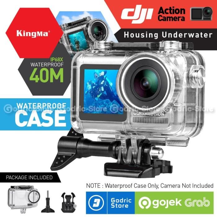 Foto Produk KINGMA Waterproof Case 40M DJI OSMO ACTION CAMERA Housing Underwater dari Godric Store