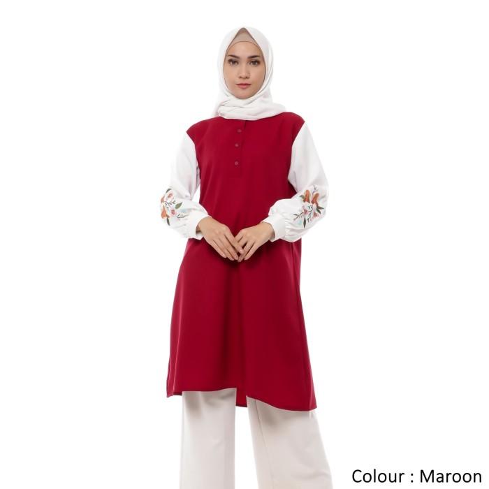Foto Produk Atasan Wanita Original | Martha Tunik | Muslim Bordir | Tazkia Hijab - Lemon dari Tazkia Hijab Store