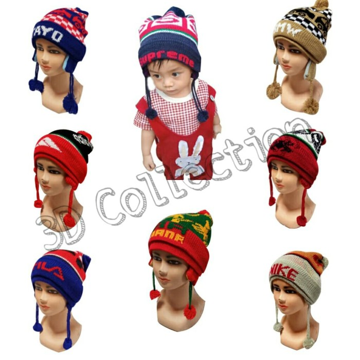 Foto Produk Topi Kupluk Rajut Anak Tutup Telinga Aneka Karakter dari 3D_Collection
