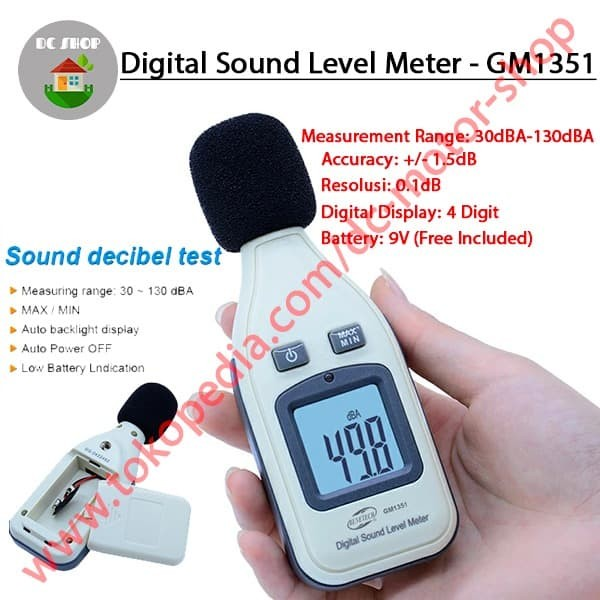 Foto Produk LCD Sound Level Meter Noise Test Tester Digital DB Decibel New GM1531 dari DC Motor Shop