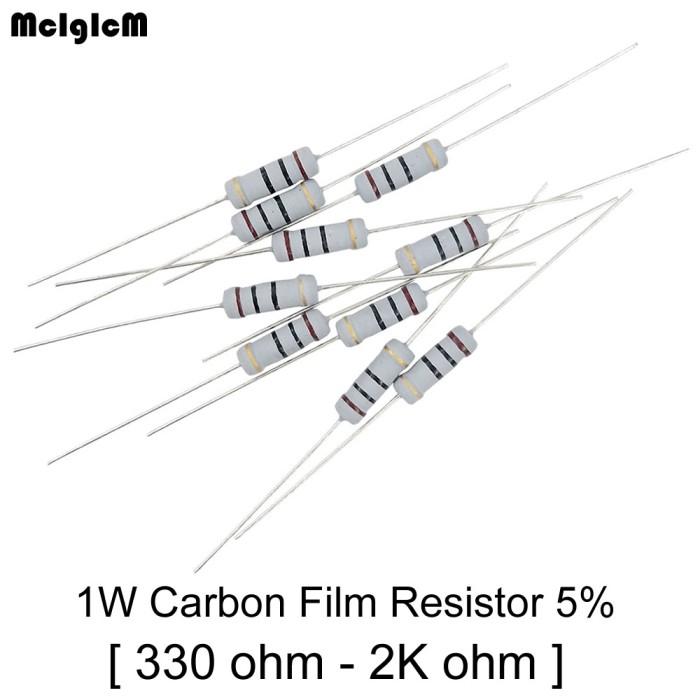 QTY 5-5 watt ceramic cement power resistor 330 ohm