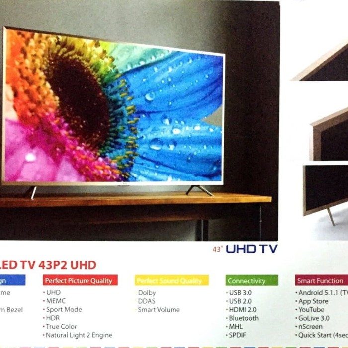"Foto Produk TV LED UDH 4K TCL 43"" 43P2UD Tasikmalaya dari Federal Electronic"