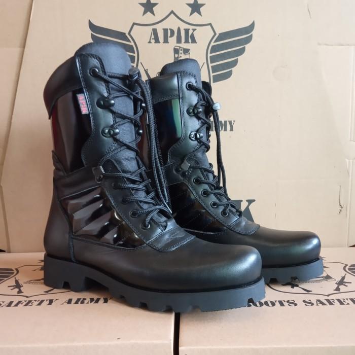 Foto Produk sepatu boots pdl tni porli merk Apik asli kulit berkualitas dari APIK boots