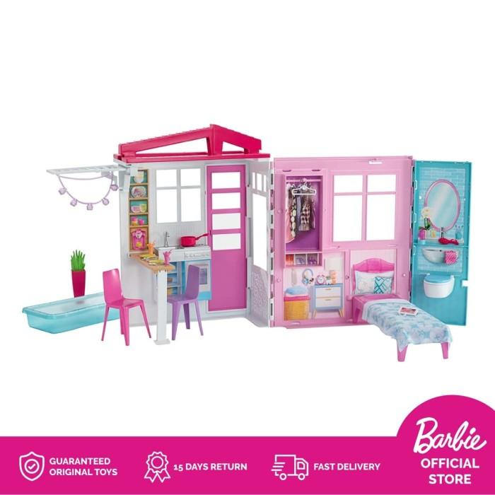 Promo Barbie 2-Story House Rumah Boneka Permainan Toy Anak