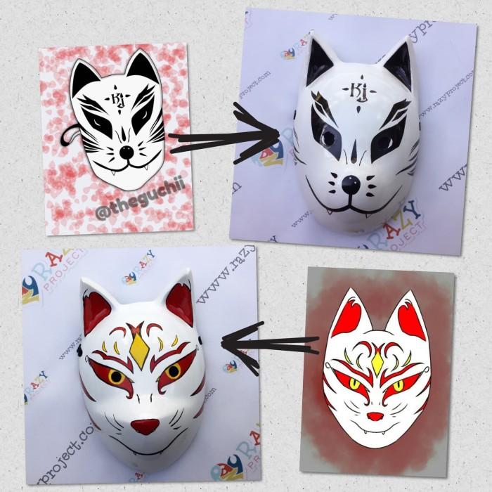 Jual Mask Topeng Kayu Cosplay Anime Jepang Custom Made To