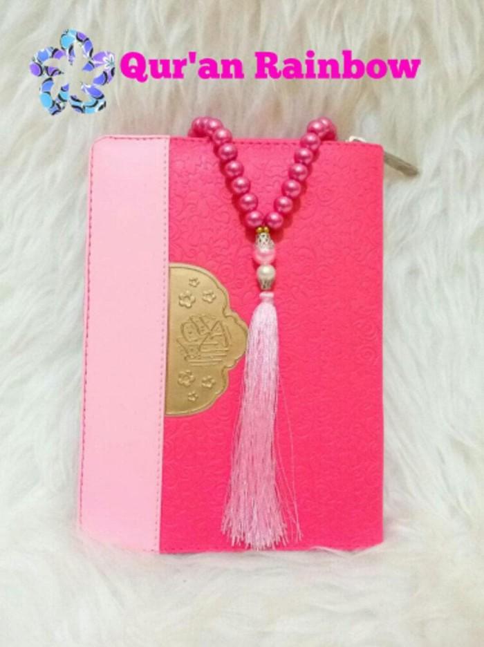 Jual Al Quran Rainbow Fatimah Zipper Wanita Pelangi Free Tasbih Cantik Jakarta Barat Ariefazzahidi Tokopedia