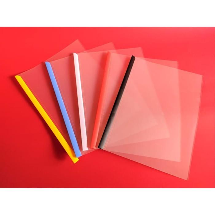 Foto Produk Rail holder king jim 502GA-10 | File Folder plastik jilid / Pipe Jilid - Putih dari officemart