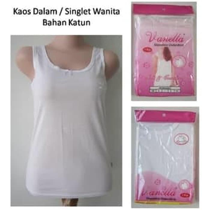 Foto Produk kaos Dalam Wanita / singlet wanita Merk VANELA - Putih, XXL dari RajaPakaian Dalam