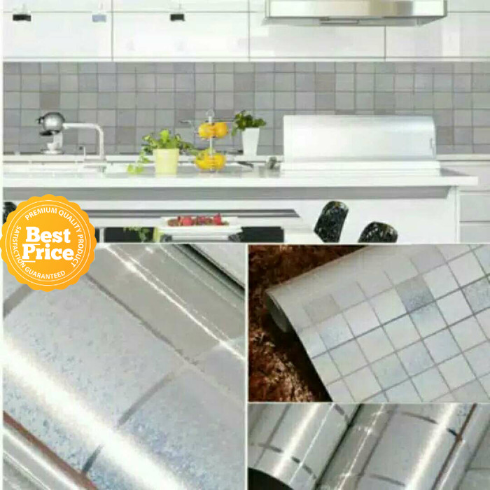 Jual Sale 45cmx5m Wallpaper Kitchen Tahan Panas Motif Keramik