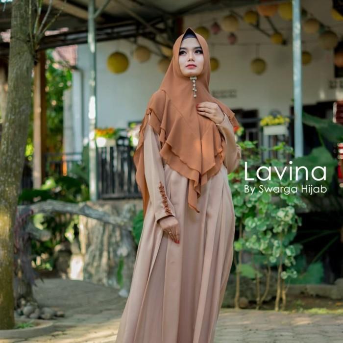 Jual Gamis Syar I New Lavina By Swarga Hijab Cokelat Xl Kab Tulungagung Galery Hijab Aulia Tokopedia