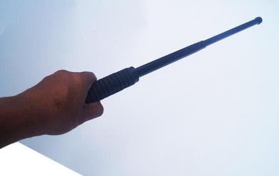 Pair Foam Rubber Tonfa Martial Arts Police Baton Stick Training Gear
