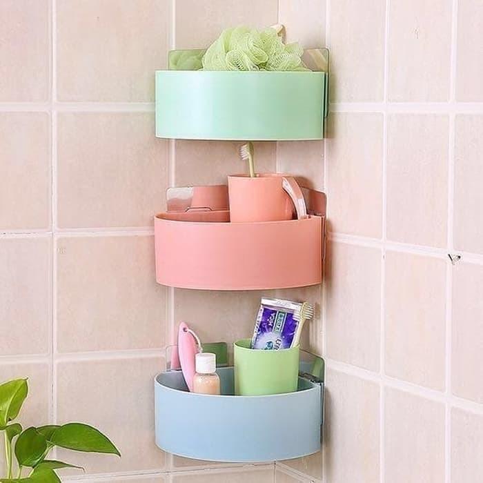 Foto Produk Gen 2 Rak Kamar Mandi Sudut Siku Tempat Sabun Serbaguna Shampo Toilet dari BEST SHOP GROSIR