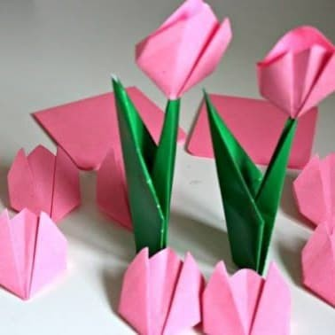 Jual Diy 25pcs Origami Kertas Bunga Tulip Polos Warna Warni Hiasan Dekorasi Kab Bekasi Fanny Online Tokopedia