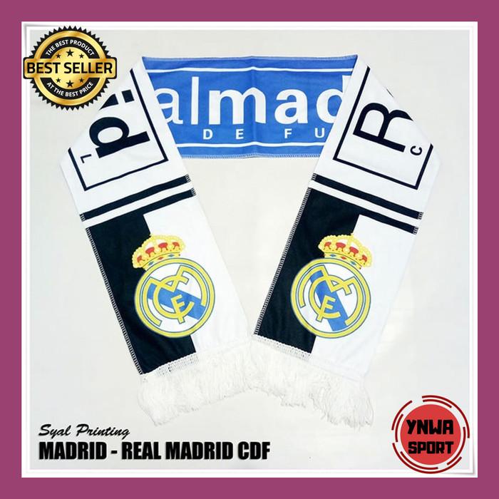 Jual Syal Scarf Real Madrid Printing Import Kab Sleman Ynwa95 Tokopedia