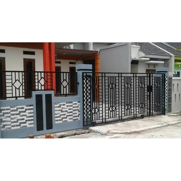 Jual Pintu Pagar Besi Rumah Minimalis Jakarta Selatan Agung
